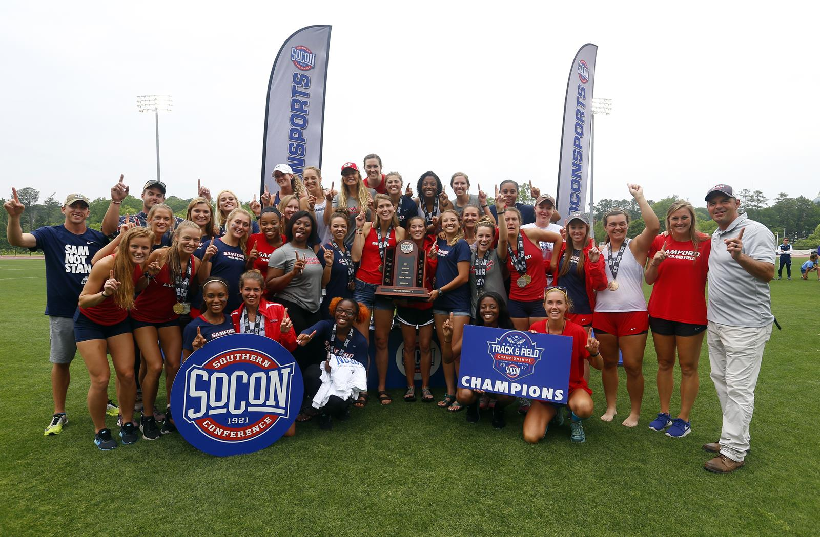 7d7307b6ecb18b SOCON CHAMPS!!!!   Dogs Cruise To Outdoor Title - Samford University ...